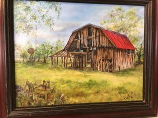 Painting by Winnie Childers, $75