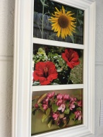 Framed photo montage by Betty Perkins, $25