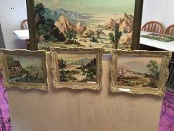 4 framed pieces by Leonard Borman, $125