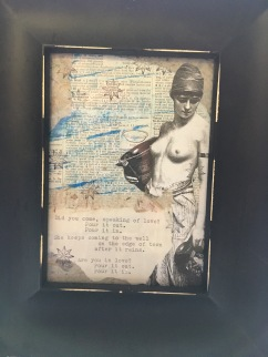 MIxed Media/Poetry by Shaun Perkins, $25