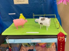 2nd Place K-5th Grade: Adeline Yates, Down at the Waterin' Hole